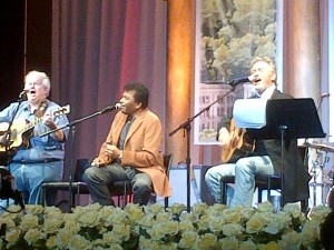 Charlie Pride and Larry Gatlin performing at for the Sponsor Dinner
